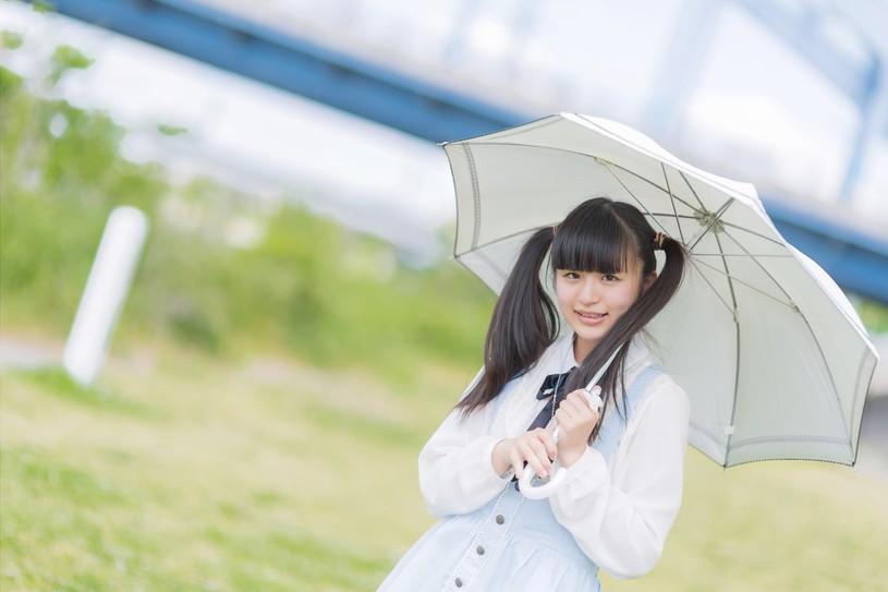 日傘女子です