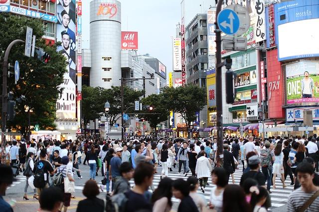 東京都の交差点