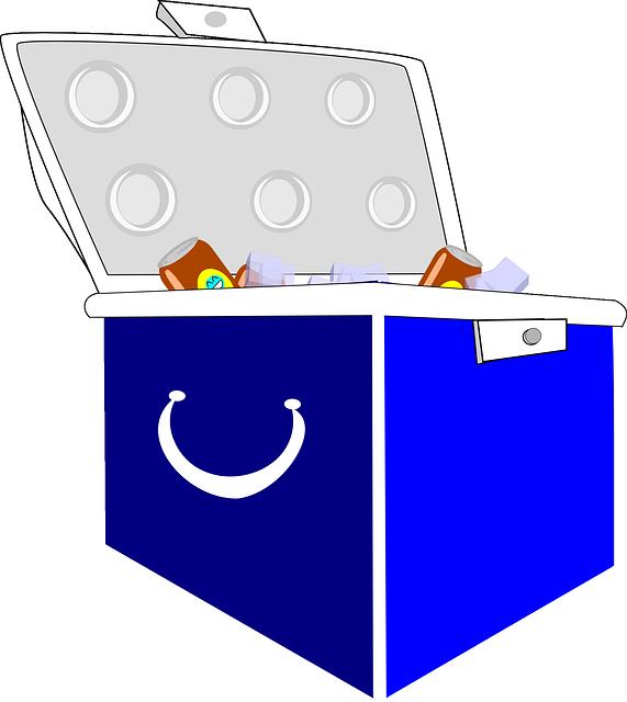クーラーボックスに保冷剤はつきもの。