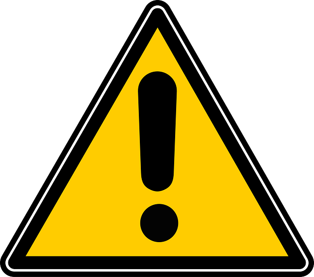 危険、注意を教える看板