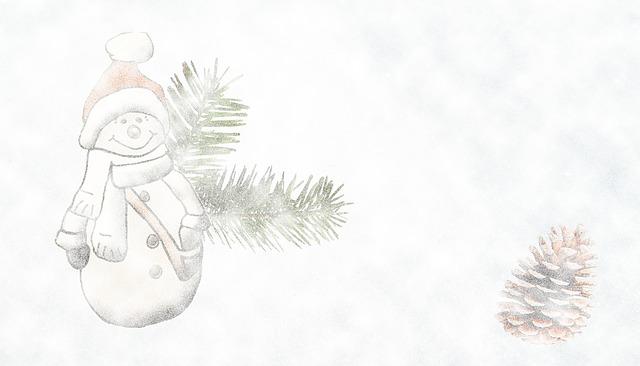 冬と雪だるま