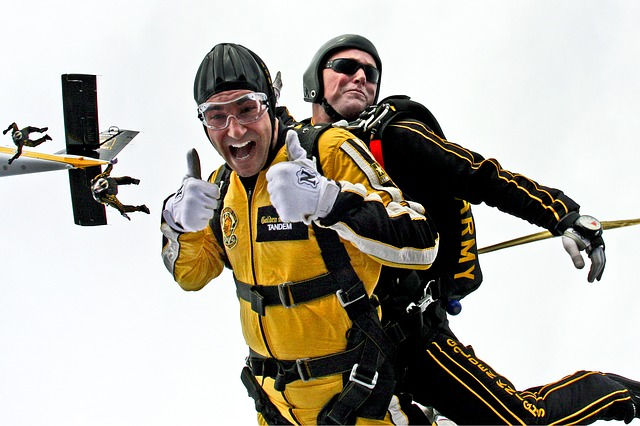 シルバーウィーク中にスカイダイビングを楽しみました。