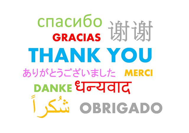 感謝の気持ちを文字で表現して見ました。