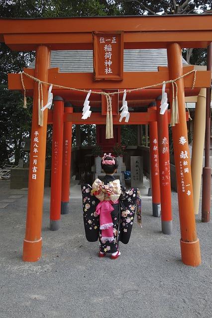 七五三で神社に行きました。