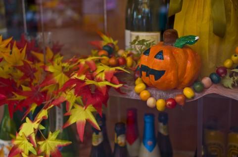 かぼちゃで作ったお化けです