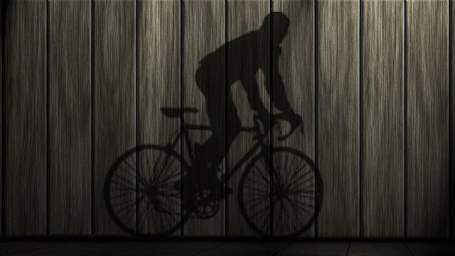 自転車の影です。