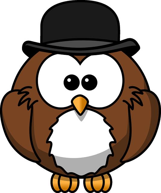 帽子と読書が好きなフクロウです。
